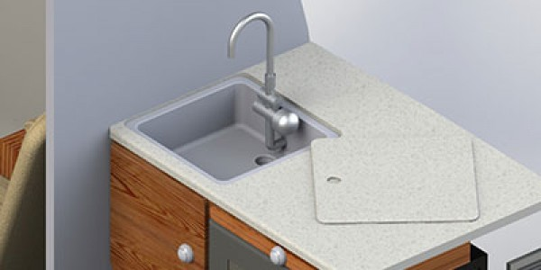 Kitchen countertop & sink